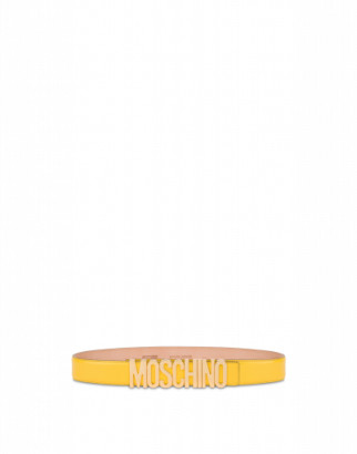 Moschino Belt In Leather With Logo Woman Yellow Size 38 It - (4 Us)