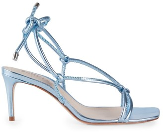 Schutz Belize Knotted Metallic Leather Sandals