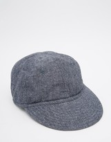 Asos Unstructured Cap In Washed Chambray