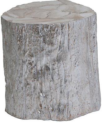 Artistica Trunk Segment Side Table - Silver Leaf