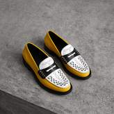 Burberry Woven-toe Leather Loafers