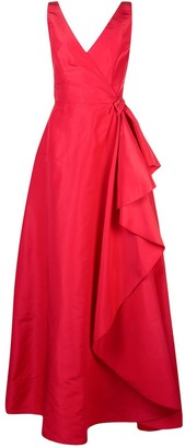 Carolina Herrera wrap-style draped gown