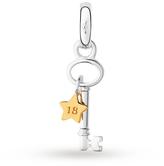 Links of London Silver & Gold Vermeil 18th Birthday Star Key Charm 5030.2467