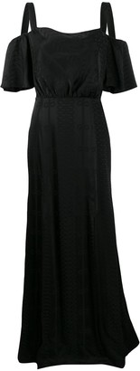 Temperley London Off-Shoulder Maxi Dress