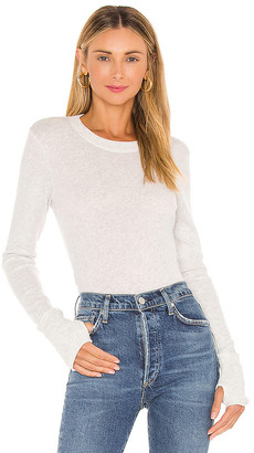 Enza Costa Cashmere Fitted Crew Neck Sweater