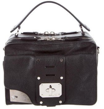 Versace Studded Stardust Leather Satchel
