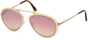 Tom Ford Dashel Brow-Bar Aviator Sunglasses