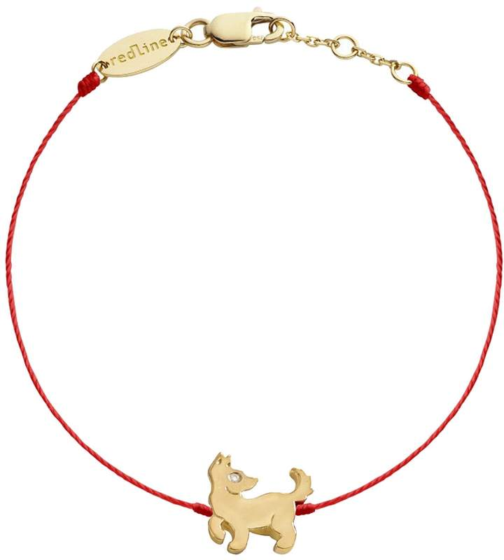 Redline Dog Red Bracelet - Yellow Gold
