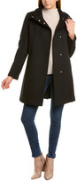 Cole Haan Topper Wool-Blend Coat
