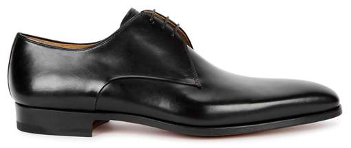 Magnanni Black Leather Derby Shoes