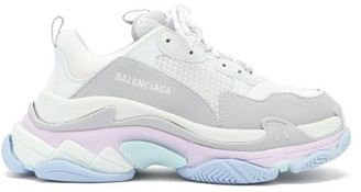 Balenciaga Triple S Leather And Mesh Trainers - White Multi