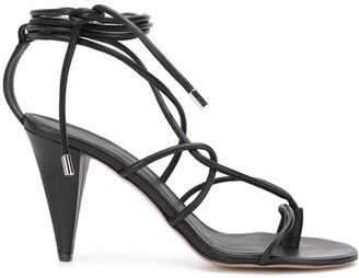 Isabel Marant High-Heeled Leather Sandals
