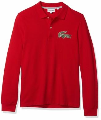 Lacoste Mens Long Sleeve Heavy Pique Winter Regular Fit Polo Polo Shirt
