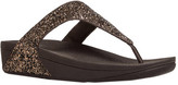FitFlop Women's Glitterball Wedge Thong Sandal