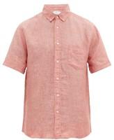 Onia Jack Short-sleeved Linen Shirt - Mens - Red