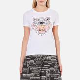 Kenzo Women's Printed Tiger On Cotton Single Jersey TShirt - White
