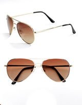 Polaroid 60mm, Aviator Polarized Sunglasses