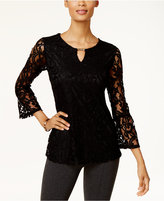 JM Collection Lace Keyhole Top, Created for Macy's