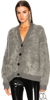 Acne Studios Rives Mohair Cardigan in Gray.