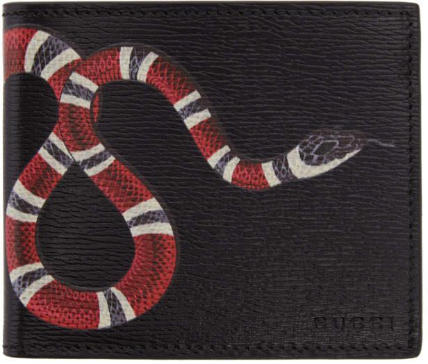 Gucci Black Leather Snake Wallet