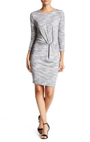 Lush Twisted 3/4 Length Sleeve Dress