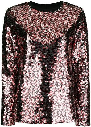 McQ Embellished Long-Sleeve Blouse