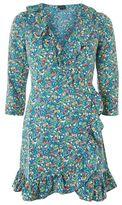 Topshop Floral garden ruffle wrap dress