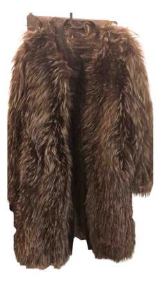 Gerard Darel Grey Fox Coats