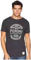 Original Retro Brand The Peroni Short Sleeve Vintage Tri-Blend Tee (Streaky Black) Men's T Shirt