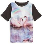 Toddler Girl's Stella Mccartney Kids Swan Graphic T-Shirt Dress