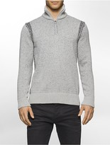 Calvin Klein Speckle Plated Quarter Zip Sweater