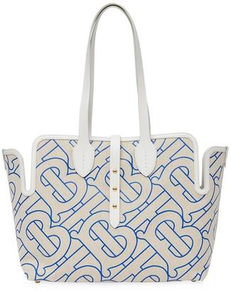 Burberry Medium Monogram-Pattern Tote Bag
