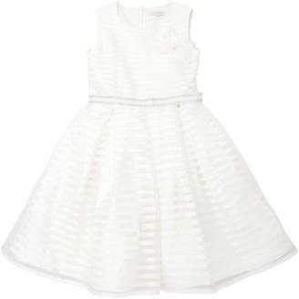 MISS GRANT Cotton Organza & Satin Party Dress