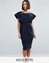 Asos Double Layer Midi Dress with Cut Outs and Angel Sleeve
