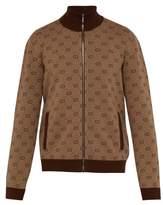 Gucci - Gg Jacquard Wool Blend Track Jacket - Mens - Brown