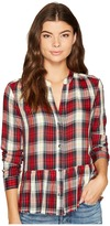 Splendid Cropped Shirt with Fray Women's Clothing