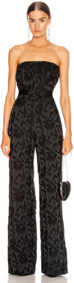 Alexis Venetia Jumpsuit in Black Floral Jacquard | FWRD