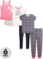 Very Girls Floral Pyjamas Set (6 Piece)