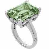 Amoro Party Colors Prasiolite Ring 10.00cts in 14kt white gold