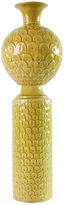 Yellow Scalloped Vase