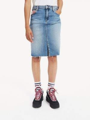Tommy Hilfiger Slim Fit Long Denim Skirt