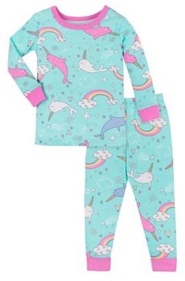 Little Star Organic Baby Toddler Girl Snug Fit Organic Cotton Pajamas, 2pc Set