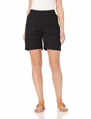 Caribbean Joe Women's High Density Poplin Rolled Shorts with Lambchop Pocket