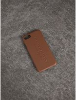 Burberry Leather iPhone 7 Case, Brown