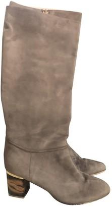 Burberry Ecru Suede Boots