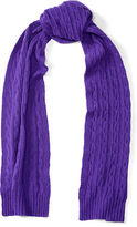 Polo Ralph Lauren Cable-Knit Cashmere Scarf