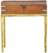 One Kings Lane Vintage Antique British Colonial Box on Stand - de-cor