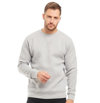 Kangaroo Poo Mens Crew Neck Sweatshirt Grey Marl