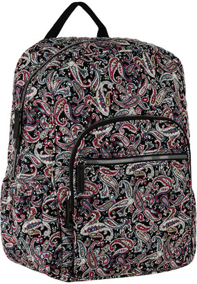 Mkf Collection By Mia K. MKF Collection by Mia K. Women's Backpacks Black/Persimmon - Black & Persimmon Paisley Quilted Backpack