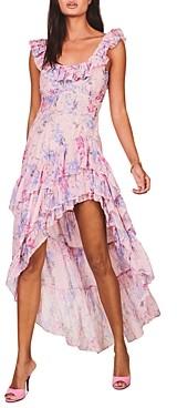 LoveShackFancy Winslow Asymmetric High/Low Dress